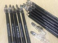 black eye liners venda por atacado-Frete grátis lápis de sobrancelha maquiagem com olho apontador / lápis delineador lápis preto e marrom 12 PCS