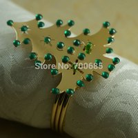 Wholesale Cheap Napkin Holders - Wholesale- christmas napkin ring, crystal cheap decoration napkin holder