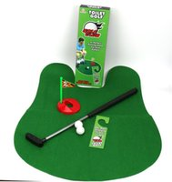 Mini toilettes de salle de bain pour toilettes de golf Set Set Perfect Putting Game pour Avid Golfers Potty Putter Golf Trainer Fun Game
