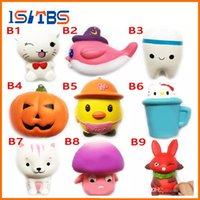 Wholesale Wholesale Plants Food - DHL Squishy Toy miniature food tooth squishies Slow Rising 10cm 11cm 12cm 15cm Soft Squeeze Cute Cell Phone Strap gift Stress children toys