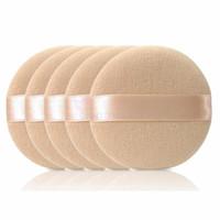 мягкая лицевая губка оптовых-Wholesale- 5PCS Woman Facial Soft Cotton Sponge  Puff Pads Face Foundation  Cosmetic Tool Face Beauty NB438