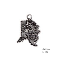 Wholesale Product Maps - New Hot sell Product seven Types USA States Map Logo Charm pendant American Jewelry for necklace jewelry making