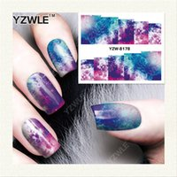 Wholesale Nail Salon Art Prints - Wholesale-YZWLE 1 Sheet DIY Decals Nails Art Water Transfer Printing Stickers Accessories For Manicure Salon YZW-8178