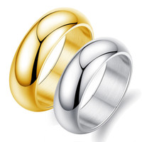 Wholesale Cheap Black Mens Wedding Bands - Mens stainless steel ring in size 13 wedding engagement jewelry gold plated party rings men jewellery accessories cheap