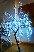 Wholesale Led Light Willow Tree - LED Artificial Willow Weeping Tree Light Outdoor Use 945pcs LEDs 1.8m 6ft Height Rainproof Christmas Decoration Tree Free Shipping White