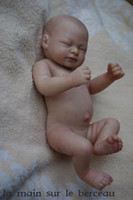 Wholesale reborn vinyl kit - 10Inch Reborn Doll Kit Full Limb Anatomically Correct Sleeping Soft Silicone Vinyl For Babies Christmas Birthday Gift