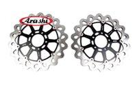 Wholesale Suzuki Front Rotor - Arashi CNC Front Brake Disc Brake Rotors FOR SUZUKI GSXR600 R750 GSXR1300 HAYABUSA GSX1400 GSX1400R GSX1300R DBS013W