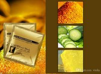 Wholesale Feet Softening - Factory price 1000Pair=2000pcs lot 24K Gold Revitalizing Exfoliating Softening Feet mask Removes Cuticles callus Dead cells foot care