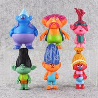 6pcs / set Trolls PVC Figurines Figurines 11cm Poppy Branch Biggie Collection Poupées pour enfants Figurines Modèle de jouets de Noël en gros