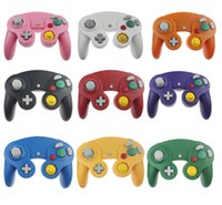 Wholesale Wholesale Shock Cord - NGC Wired Gaming Game Controller Gamepad Joystick Turbo DualShock for NGC Nintendo Console Gamecube Wii U Extension Cable Cord Q2 9color DHL