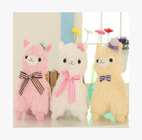 Wholesale 2017 New Japanese Arpakasso Alpaca Amuse Genuine Sheep plush toy alpaca with tags high Doll colors Toy cm plush doll toy