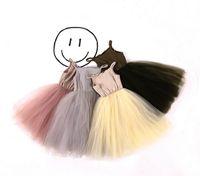 Wholesale Girls Princess Fluffy - 2017 Summer New Girl Sweet Dresses Gauze Fluffy Slip Princess Dresses Children Clothing 2-7T 1703