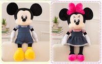 Wholesale Minnie Mouse Plush Toys - 2017 new Mickey Minnie doll plush toys Mickey mouse girl dolls free shipping