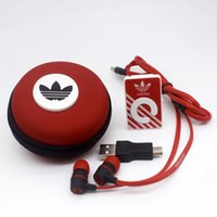 Wholesale Mp3 Bag Earphones - 2017Mirror Clip mini Sport MP3 music Player Support TF Micro with earphone and cable bag Free Shipping.