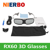 Wholesale beamer 3d shutter for sale - Group buy Active shutter D glasses Can be used with nearsighted glasses ABS PC material projector D TV glasses D cinema Beamer Theater