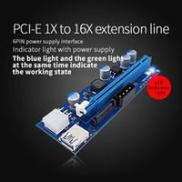 Wholesale Pci Molex - 2017 Newest 4Pin Molex 6pin 15Pin Sata Power PCI-E 1X to 16X Riser Card Minner riser adapter with 4p 6p 15p power Minning riser Card