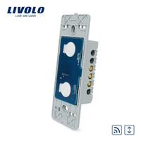 Wholesale White Led Manufacturers - LS05-FREE Shipping, Livolo Manufacturer, US Standard, The Base Of Touch House Home Led Remote Curtains Switch, VL-C502WR