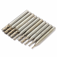 Wholesale milling cutter 6mm - 10pcs 1.5-6mm 4 Flute End Mill Cutter 6mm Shank Straight Shank Drill Bit
