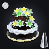 Wholesale Nail Moulds - Kitchen Pastry Tool Fondant Gift Decorating Plastic Lily Flower Nail Receptacle Removable Frosted Antiskid Piping Mould