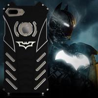 Wholesale Designed Cases For Iphone 5c - R-just Design Metal Aluminum LuxuryTough Armor THOR Batman Phone Cases for IPhone 5C 5S 6 6S plus 7  Plus 7 plus Housing Cover