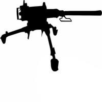 Wholesale Machine Gun Cartoon - Wholesale 10pcs lot New Weapons of War Firepower Us Army M2 Machine Gun Car Sticker for SUV Truck Bumper Kayak Canoe Car Decor Vinyl Decal