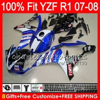 Wholesale r1 fairings fimer resale online - 8Gifts Colors Injection For YAMAHA YZF1000 YZFR1 YZF HM9 YZF R1 YZF YZF R Blue FIMER YZF R1 Fairing