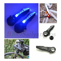 Vente en gros - Nouveau 2pcs Bike Bicycle Handlebar Grips Lumière Led Bicycle Signal de signalement Avertissement Lampe Chaud Cyclisme Mountain Bike Bicycle Lights