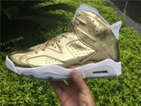 Wholesale Body Spikes - 2017 High Quality Retro 6 Metallic Gold Men Basketball Shoes 6s Gold Spike Lee Athletics Sneakers Shoes Eur Size 36-47 us 5.5-13