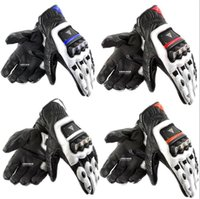 Wholesale Leather Brief Paragraph - The new titanium alloy brief paragraph leather racing gloves Motorcycle riding gloves motorcycle gloves
