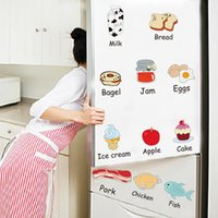 Wholesale Decorative Bedroom Doors Wholesale - Cartoon Kitchen Refrigerator Door Stickers Decorative Stickers Food Fruit Removable Wall Sticker stickers On The Wall