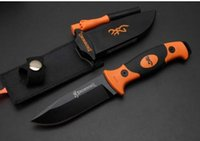 Wholesale Ultimate Abs - 2016 new browning ultimate survival knife 202 hunting camping knife 7cr15MOVblade,ABS sheath 57HRC fixed blade knife PP+fiber handle