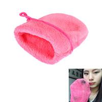 make-up handtuch großhandel-Wholesale-Wiederverwendbare Mikrofaser Gesichtstuch Gesicht Handtuch Make-Up Entferner Reinigung Handschuh Werkzeug HB88