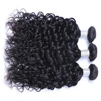Wholesale Brazilian Remy Bulk Hair Bundles - Hot Sell Brazillian Peruvian Indian Malaysian Virgin Remy Hair Natual Wave Natural Color Brazilian Human Hair Weave Bundles Extensions