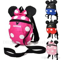 Wholesale Children Books - Mickey Minnie Backpacks Kids Cartoon School Bags Baby Fashion Dotted Book Bags Toddlers Large Capicity Backpacks Children Accessories H569