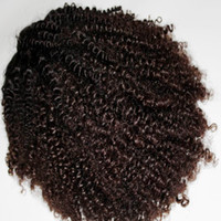 Wholesale wig bundles - New Arrival Indian Kinky Curly Lace Front Wig premade wigs sewed by bundles and closure 1 unit 150% thick density 8A