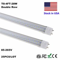 Wholesale led lights for sale - T8 LED Fixture ft Feet Tube LED T8 W W W ft M Tubes Light Cold White K t8 lead tube