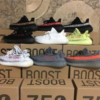 Wholesale Coopers Shoes - [With Box] Drop Sale Boost 350 V2 Cream White Zebra Bred Black Beluga Cooper Women and Men Running Shoes Size 36-46