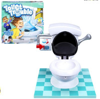 Wholesale Tricky Toilet Toy - kids toy Toilet trouble game Washroom Tricky Toys Funny Game Fun Play Children Party Games high copy KKA1537