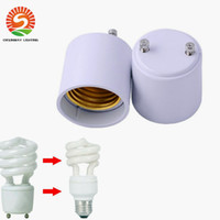 Wholesale Lamp Base Adapters - In Stock!! GU24 to E26 GU24 to E27 Lamp Holder Converter Base Bulb Socket Adapter Fireproof Material LED Light Adapter Converter