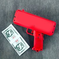 cash free - 2017 Supremee Cash Cannon Money Gun Decompression Fashion Toy Make It Rain Money Gun With Battery Christmas Gift Toys SM001