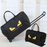 faltbare reisetaschen großhandel-Freies verschiffen 2017 Berühmte marke große kapazität frau handtaschen oxford faltbare reisetasche mit rädern gepäck taschen luxus designer handtaschen