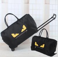 sacos de bagagem grande venda por atacado-Frete grátis 2017 Famosa marca grande capacidade mulher bolsas oxford saco de viagem dobrável com rodas sacos de bagagem bolsas de grife de luxo