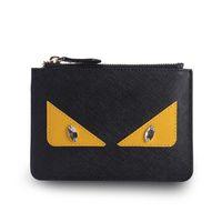 Wholesale Cheap Clutch Purses Leather - Custom color Little monster wallet  leather clutch bag cute womens cheap wallets purse cartoon short wallet