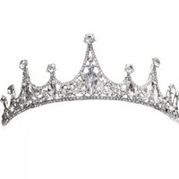 Wholesale HOT Korean princess crown headdress bride married jewelry wedding hair ornaments queen with jewelry