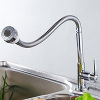 Wholesale Cheap Water Faucets - Wholesale- Bathroom Deck Mounted Brass Basin Faucet Single Lever Cold Water Tap Cock Swivel Spout Cheap