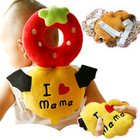Wholesale Head Harness Ring - Wholesale- Soft Toddler Headrest Pillow Cartoon Bear Pillow Baby Infant Walking Head Back Protection Protector Safety Pad Harness Cushion