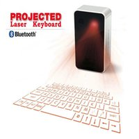 Wholesale Iphone Usb Mouse - Portable Laser Projection Keyboard Wireless Virtual Bluetooth Laser Keyboards with Mouse & USB for Android iPhone Phone Tablet Laptop