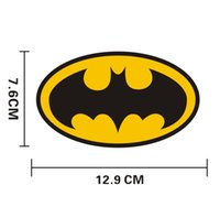 Wholesale Guys Cars - Funny car stickers 3d Batman logo reflective body stickers cartoon funny guy Nick battery motor car sticker