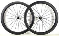 ruedas ud al por mayor-Envío gratis 700C 50 mm de profundidad bicicleta de carretera juego de ruedas de carbono de 25 mm de ancho remachador ruedas de carbono con eje de autopista R36 UD acabado mate