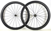 Wholesale Road Bike Tubular - Free shipping 700C 50mm depth road bike carbon wheelset 25mm width clincher carbon wheels with powerway R36 hub UD matte finish